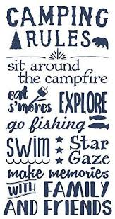 Wall Decor Plus More Wdpm3805 Camping Rules Subway Art Quotes Wall Letters For Summertime Wall Stickers Decal Deep Blue 37x20 Amazon Com