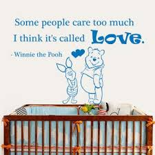 Shop Winnie The Pooh Quote Some People Care Too Much Interior Design Vinyl Sticker Nursery Decor Sticker Decal Size 33x45 Color Black Overstock 14776584