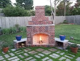 outdoor fireplace brick