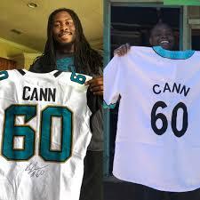 AJ Cann does a jersey exchange with a rural Kenyan community : Jaguars