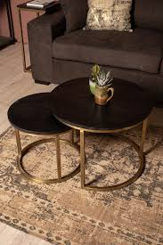 2 piece round coffee table set finnley
