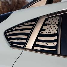 2018 Subaru Crosstrek American Flag Window Decal V1 Everything Vinyl Decal
