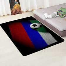 Modern Carpet 3d Football Area Rugs Flannel Memory Foam Boys Kids Play Top Bestes