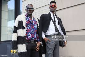 Patrick Amara is seen wearing Gucci, Dustin Rogers is seen wearing a...  News Photo - Getty Images