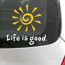 2020 Fun Life Is Good Rising Sun Decal Window Car Laptop Sticker Vinyl Funny Car Phone Window Decal Sticker Reflective Yellow Color From Mysticker 2 02 Dhgate Com