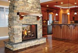 love the double sided fireplace wood