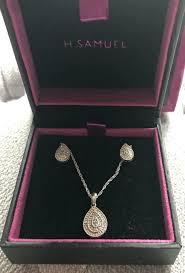 h samuel diamond tear shape earrings