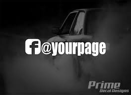 2x 1 Custom Fb Facebook Your Page Logo Name Car Window Vinyl Decal Sticker Ebay