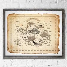 Neverland Peter Pan Map Wall Decor Peter Pan Art Prints Etsy