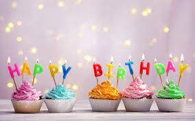 تحميل خلفيات عيد ميلاد سعيد الشموع الكعك كريم الحلويات تحياتي