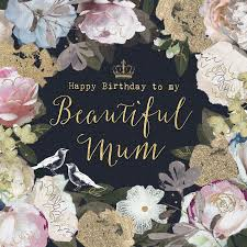 a pretty floral birthday card for mums featuring a gorgeous