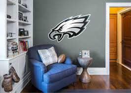 Philadelphia Eagles Logo Wall Decal Shop Fathead For Philadelphia Eagles Decor New Orleans Saints Man Cave Ideas Removable Wall Decals Removable Wall