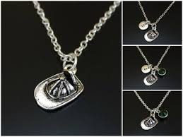 firefighter helmet necklace silver