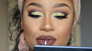 gold glitter prom 2016 makeup tutorial