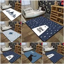 Best Sale 8357 Geometric Living Room Decorative Carpets Anti Skid Rectangle Kids Room Play Tents Rug Deer Bear Soft Sofa Coffee Desk Carpet Cicig Co