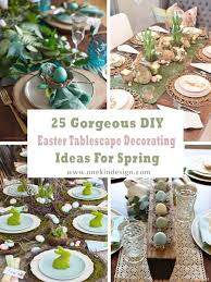 diy easter tablescape decorating ideas