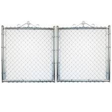 7 Ft H X 16 Ft W Steel Chain Link Fence Gate In The Chain Link Fence Gates Department At Lowes Com