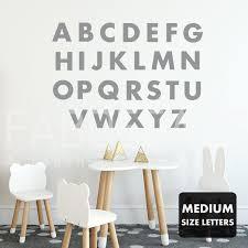 Kids Alphabet Letters Children Wall Decals Abc Wall Sticker Etsy