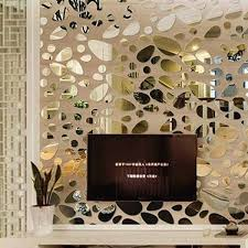 Stylish Diy Combination Type Pebble Shape Mirror Wall Stickers Wall Decor Stickers Diy Wall Stickers Mirror Decal
