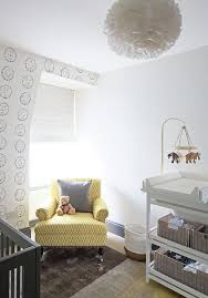 chair with bunny print wallpaper