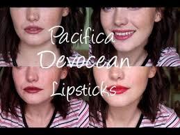 pacifica devocean lipsticks swatch