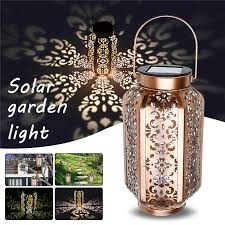 vintage metal led lantern light outdoor