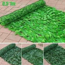 Artificial Fake Ivy Leaf Foliage Privacy Fence Screen Garden Panel Indoor Hedge Ebay