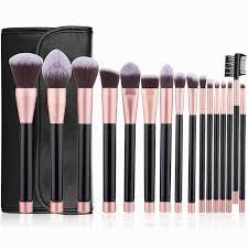 makeup brushes set with bag