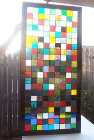 stained glass window panel colorful