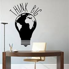 Hot Promo 0c363 Think Big Idea Frase Wall Stickers For Office Room Vinyl Decal Mural Bedroom Sticker Adesivo De Parede Lw740 Ey Dgalleria Co