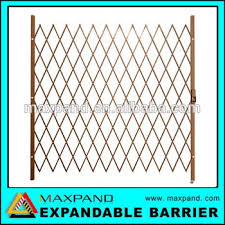 Oem Indoor And Outdoor Metal Security Expandable Folding Gate