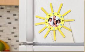 jeweled sun picture frame craft