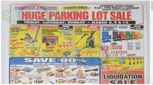 harbor freight parking lot ad