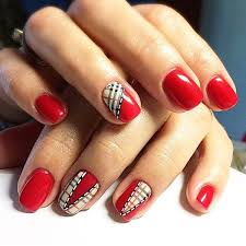 26 hot red and black nail designs ideas