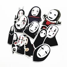 Td Zw 12pcs No Face Man Spirited Away Stickers Decal For For Snowboard Bargain Industries