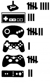 Video Game Controller Keeping Count Car Or Truck Window Decal Sticker Rad Dezigns