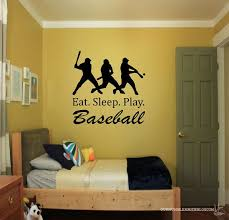 Eat Sleep Play Baseball Wall Decal Sports Decal Baseball Decal Boys Room Decor Baseball Theme Room Baseball Sticker Baseball Wall Decal Baseball Theme Room Sports Wall Decals