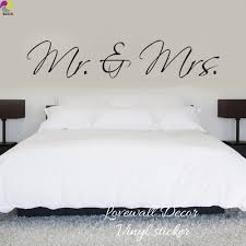 Mr Mrs Wall Sticker Bedroom Sofa Wedding Room Party King Queen Love Quote Wall Decal Family Vinyl Home Decoration Art Mural Quote Wall Decal Wall Stickerdecoration Art Aliexpress