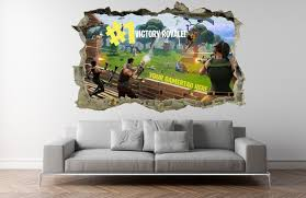Fortnite Wall Sticker Kids Custom Name Personalised 3d Breakout Decal Wall Art Wall Stickers Kids Girls Wall Stickers Decal Wall Art