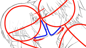how to sketch an anime kiss step by