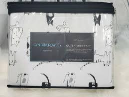 cynthia rowley 4pc queen sheet set