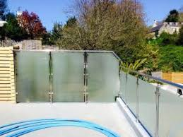 frosted glass panel glass barade