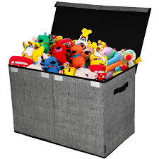 Toy Chest And Storage Box House Organization Product Gray Black