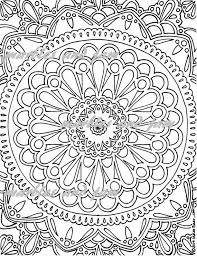 Mandala Afdrukbare Kleurplaat Voor Volwassenen Etsy