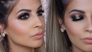 glitter smokey eyes makeup tutorial