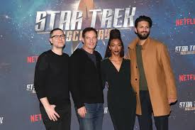 Jason Isaacs, Shazad Latif, Sonequa Martin-Green, Aaron Harberts - Jason  Isaacs and Aaron Harberts Photos - 'Star Trek: Discovery' Photocall - Zimbio
