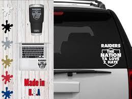 Raiders Love 2 Hate Car Decalcar Decal Laptop Decal Mug Etsy