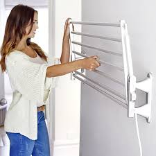 dry soon wall mounted heated airer in