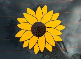 Vinyl Stickers Sunflower Sticker Decals By Doug Custom Cut Vinyl Stickers