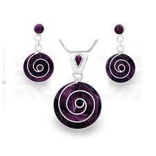 purple eternity set intika handmade